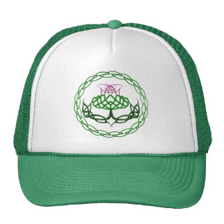 Colorful Celtic Knot Thistle Trucker Hat