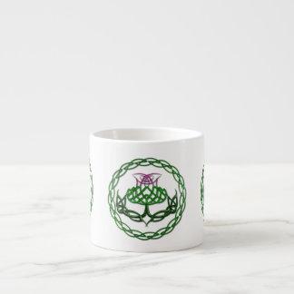 Colorful Celtic Knot Thistle Espresso Mug