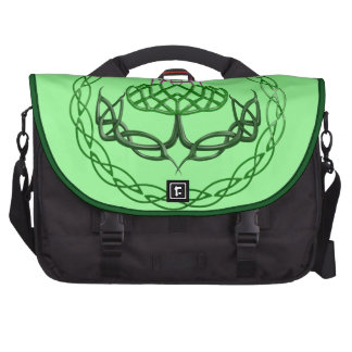 Colorful Celtic Knot Thistle Computer Bag