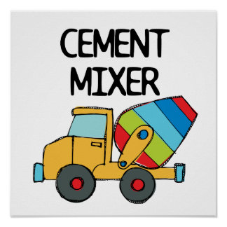 Colorful Cement Mixer Poster