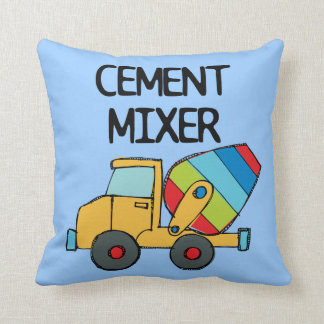 Colorful Cement Mixer Throw Pillow