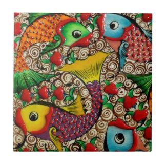 Colorful Ceramic Fish Art Ceramic Tile