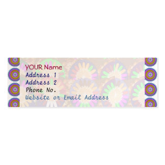 Colorful Chakra Border Grace Purple  Template Pack Of Skinny Business Cards