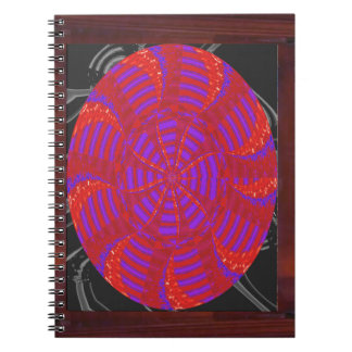 Colorful chakra energy wheel circle round gifts 99 spiral note book