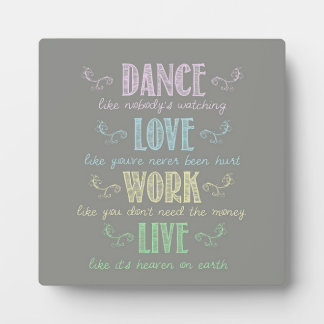 Colorful Chalk Board Style Quote Plaque