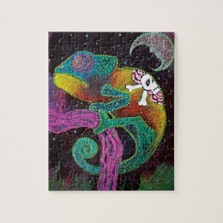 Colorful Chameleon Jigsaw Puzzle