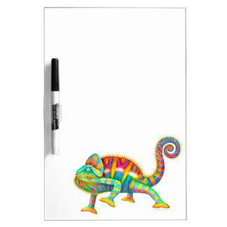 Colorful Chameleon Medium Dry Erase Board