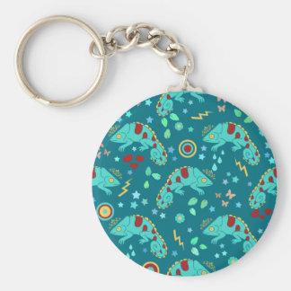 Colorful Chameleon Pattern Key Chain