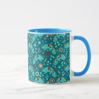 Colorful Chameleon Pattern Mug