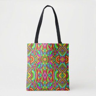 Colorful Chaos 4 Tote Bag
