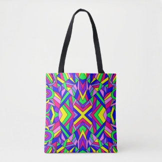 Colorful Chaos 9 Tote Bag