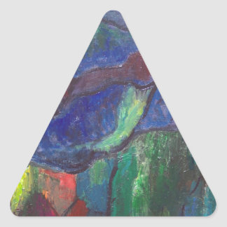 Colorful Chaos (abstract landscape) Sticker
