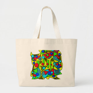 Colorful chaos large tote bag