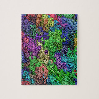 Colorful Chaotic Abstract Jigsaw Puzzle