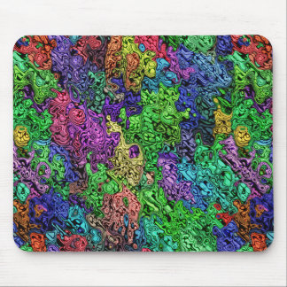 Colorful Chaotic Abstract Mouse Pad