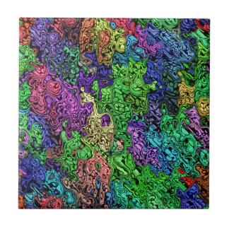 Colorful Chaotic Abstract Tile