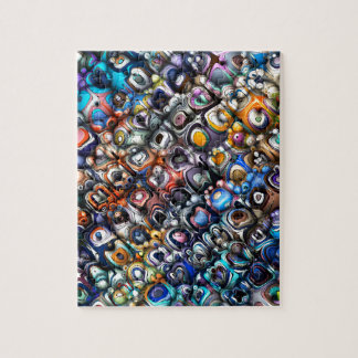 Colorful Chaotic Contours Jigsaw Puzzle