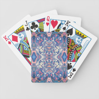 Colorful Chaotic Layers Bicycle Playing Cards