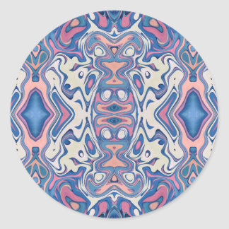 Colorful Chaotic Layers Classic Round Sticker