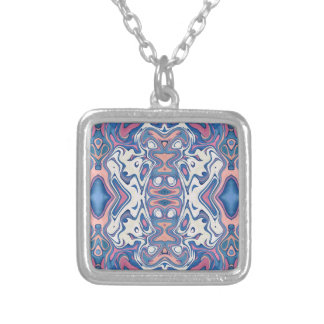 Colorful Chaotic Layers Silver Plated Necklace