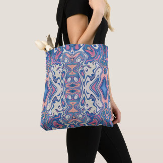 Colorful Chaotic Layers Tote Bag