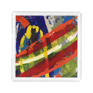 Colorful Charade Acrylic Tray