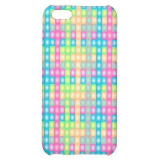 Colorful check pattern design iPhone 5C cover