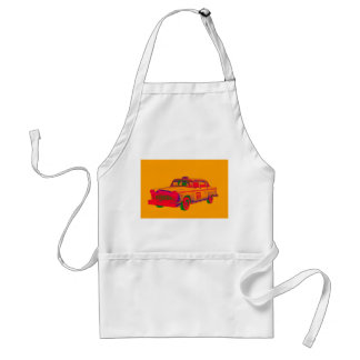 Colorful Checkered Taxi Cab Pop Art Aprons
