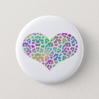 Colorful Cheetah 6 Cm Round Badge