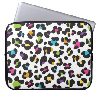 Colorful Cheetah Leopard Print Gifts for Teens Laptop Sleeve