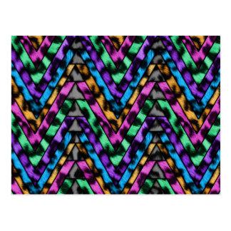 Colorful Cheetah Zig Zag Postcard