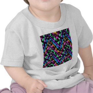 Colorful Cheetah Zig Zag Tee Shirts