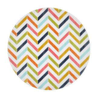 Colorful Chevron Cutting Board