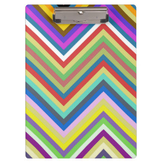 Colorful Chevron Pattern Clipboard