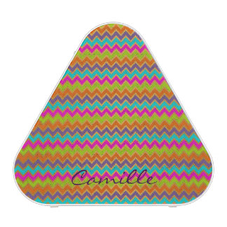 colorful chevron pattern personalized by name