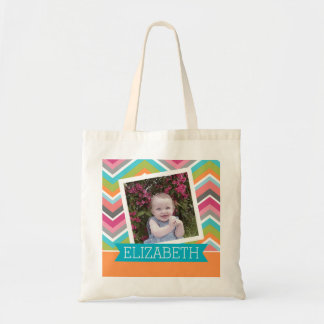 Colorful Chevron Pattern with Custom  Name