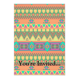 Colorful Chevron Zig Zag Tribal Aztec Ikat Pattern Card