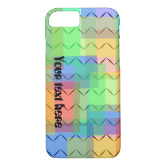 Colorful chevron zigzag pattern iPhone case