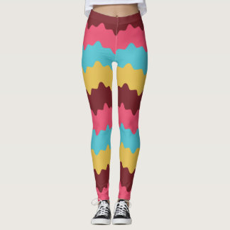 Colorful Chevron ZigZag Pattern Leggings
