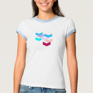colorful chevron zigzag pattern shirt