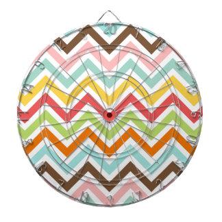 Colorful Chevron Zigzag Stripes Pattern Dartboard
