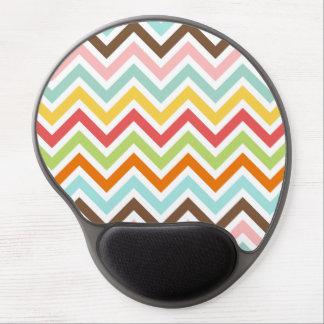 Colorful Chevron Zigzag Stripes Pattern Gel Mouse Pad