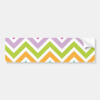 Colorful chevrons stripes bumper stickers