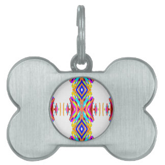 Colorful Chic Modern Tribal Pattern Pet Tag