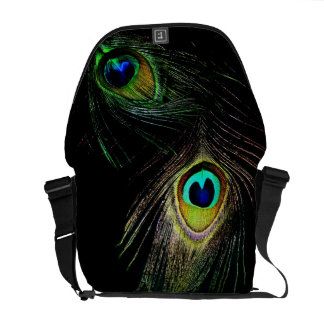 Colorful Chic Photography Peacock Feathers Photo Commuter Bag
