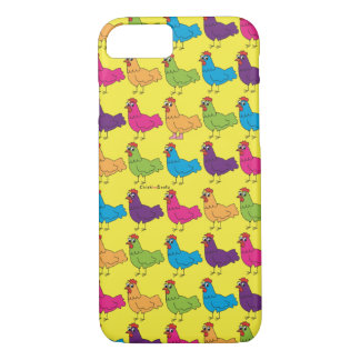 Colorful Chickens Cell Phone Case