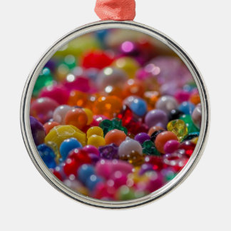 Colorful child beads Silver-Colored round decoration