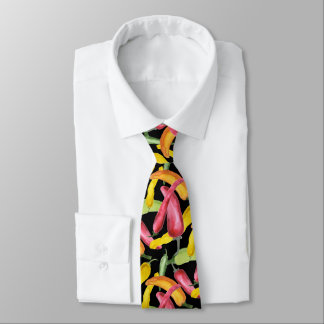 Colorful Chile Peppers Pattern Tie