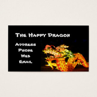Colorful Chinese Dragon Lantern Business Card