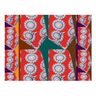 COLORFUL Chinese Indian CHAKRA ART Tie Fashion Postcard